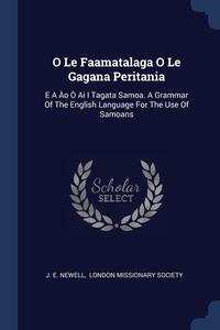 Книга под заказ: «O Le Faamatalaga O Le Gagana Peritania»