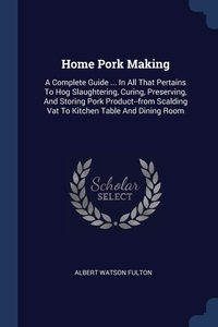Книга под заказ: «Home Pork Making»