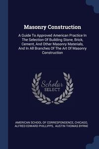 Книга под заказ: «Masonry Construction»