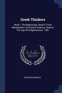 Книга под заказ: «Greek Thinkers»
