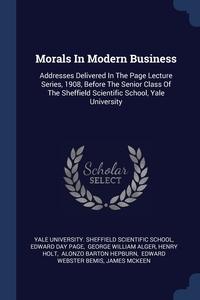 Книга под заказ: «Morals In Modern Business»