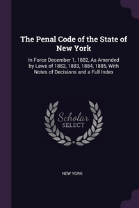 Книга под заказ: «The Penal Code of the State of New York»