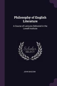 Книга под заказ: «Philosophy of English Literature»
