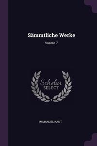 Sämmtliche Werke; Volume 7, И. Кант обложка-превью