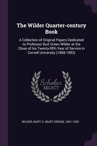 Книга под заказ: «The Wilder Quarter-century Book»