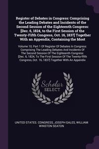 Книга под заказ: «Register of Debates in Congress»