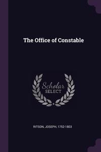 The Office of Constable, Joseph Ritson обложка-превью