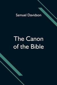 The Canon of the Bible, Samuel Davidson обложка-превью