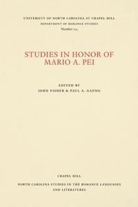 Studies in Honor of Mario A. Pei, John Fisher, Paul A. Gaeng обложка-превью